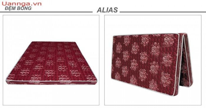 Đệm bông ép gấm dệt Alias vỏ chần gấp 2 14 phân